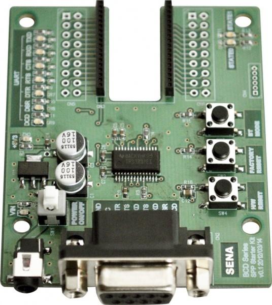 Parani BCD210 Bluetooth zertifizierte Class 2 OEM Module mit HCI Firmware, Starterkit mit Developerboard