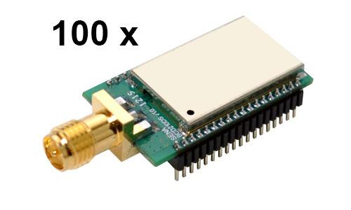 100 Stück Parani BCD210-DS Bluetooth v2.0+EDR Class 2 embedded OEM Modul, SPP Firmware, SMA Antennenanschluss