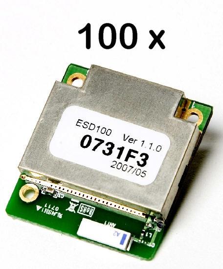 100 Stück Parani ESD100 Bluetooth v2.0+EDR Class 1 OEM SPP Modul mit integrierter Keramikantenne