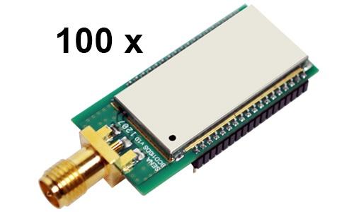100 Stück Parani BCD110-DS Bluetooth v2.0+EDR Class 1 embedded OEM Modul mit SPP Firmware, SMA Antennenanschluss