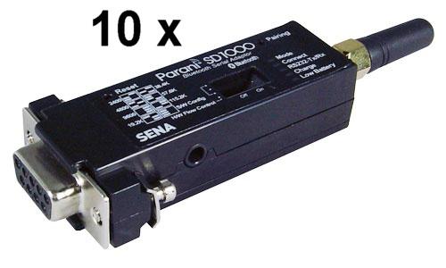 10 Stück Bulk Pack Parani SD1000 Serieller RS-232 Bluetooth Class 1 Adapter, v2.0 + EDR bis 921.6 KB