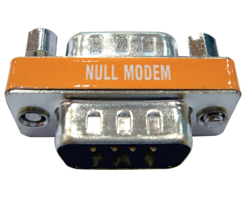 Mini Gender Changer und Nullmodemadapter Kombination in einem Adapter