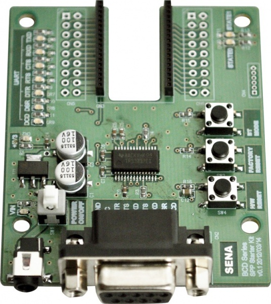 Parani BCD210 Bluetooth v2.0+EDR Class 2 embedded OEM SPP Module Starterkit mit Developerboard