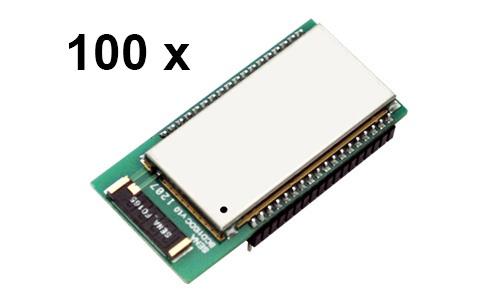 100 Stück Bluetooth v2.0+EDR Class 1 embedded OEM Module mit SPP Firmware und Chipantenne