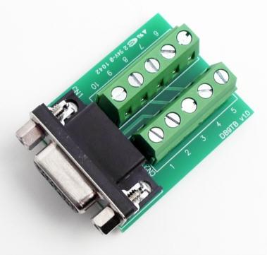 DB9 Stecker (Male) auf Terminal Block Adapter mit Schraubklemmen
