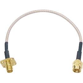15 cm Antennen Verlängerungskabel mit Linksgewinde