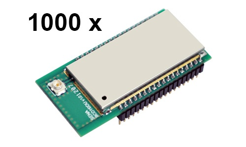 1000 Stück Parani BCD110-DU Bluetooth v2.0+EDR Class 1 embedded OEM Modul mit SPP Firmware, U.FL Antennenbuchse